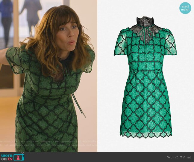 Ritta Dress by Sandro worn by Judy Hale (Linda Cardellini) on Dead to Me