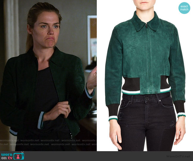 Suede Jacket by Sandro worn by Trish Walker (Rachael Taylor) on Jessica Jones