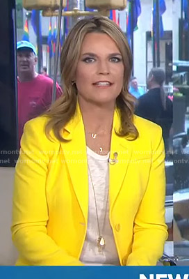 Savannah's yellow blazer on Today