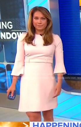 Ginger's pink bell sleeve dress on Good Morning America