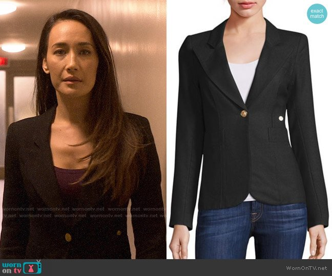 Smythe Duchess Blazer worn by Hannah Wells (Maggie Q) on Designated Survivor