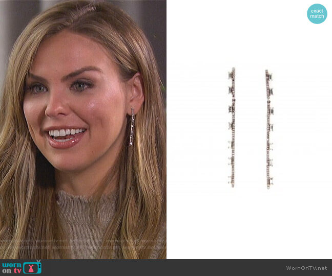 Soho Diamond Long Bar Earring by Dilamani worn by Hannah Brown  on The Bachelorette