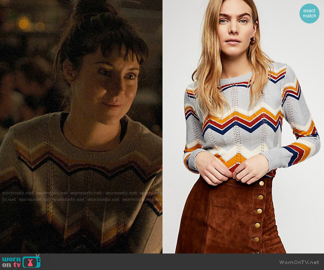 Stoned Immaculate Ziggy Pullover worn by Jane Chapman (Shailene Woodley) on Big Little Lies
