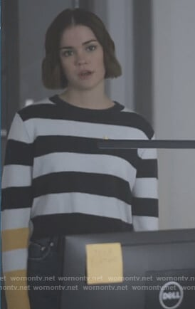 Callie's striped sweater on Good Trouble