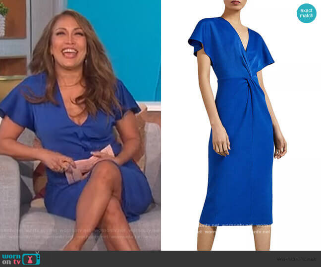 Ellame Twist-Front Dress by Ted Baker worn by Carrie Inaba  on The Talk