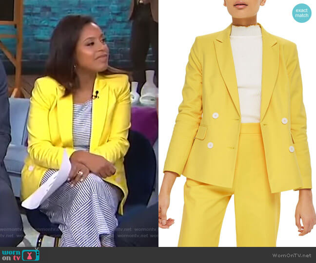 Milly Jacket by Topshop worn by Sheinelle Jones  on Today