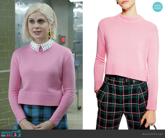 Topshop Cash Ottoman Crop Sweater worn by Liv Moore (Rose McIver) on iZombie