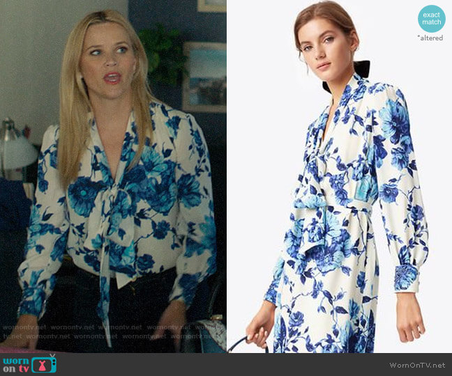 Tory Burch Lili Blouse worn by Madeline Martha Mackenzie (Reese Witherspoon) on Big Little Lies