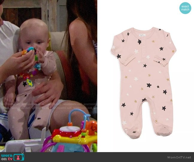 Tun Tun Stars Henley Footie worn by baby Phoebe on The Bold and the Beautiful