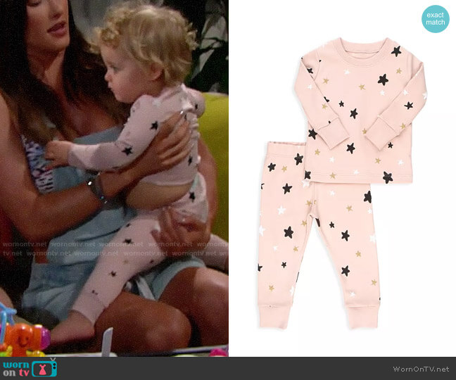 Tun Tun Two-Piece Stars Pajama Set worn by baby Kelly on The Bold and the Beautiful