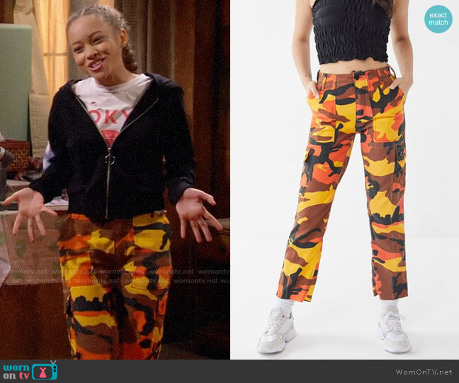Urban Renewal Vintage Colorful Camo Bold Pant worn by Ava (Shelby Simmons) on Bunkd