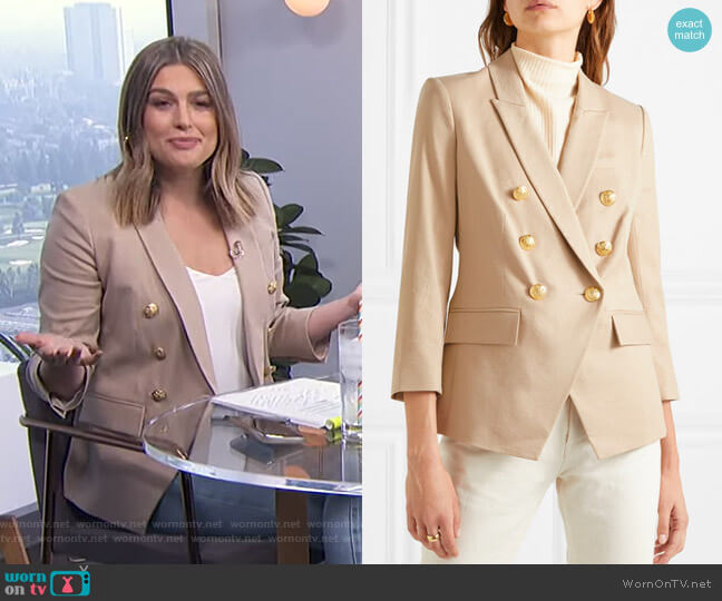 Empire Dickey Jacket by Veronica Beard worn by Carissa Loethen Culiner  on E! News