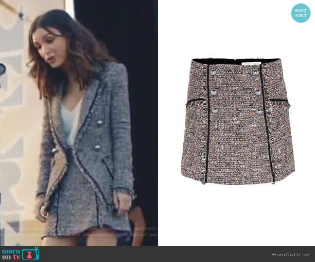Starck Tweed Skirt by Veronica Beard worn by Alicia Mendoza (Denyse Tontz) on Grand Hotel