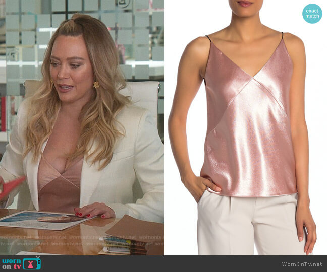 V-Neck Bias Cami by Vince worn by Kelsey Peters (Hilary Duff) on Younger