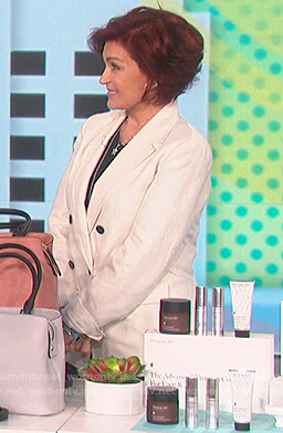 Sharon's white double breasted blazer on The Talk