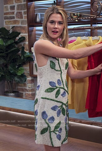 Trish's white floral embellished dress on Jessica Jones