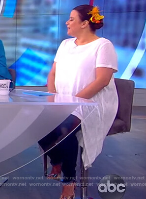 Ana's white high low top on The View