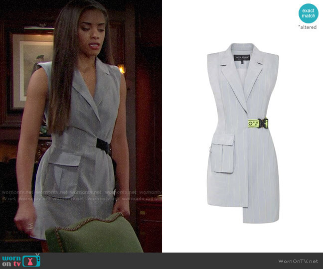 Whyte Studio Hydro Dress worn by Zoe (Kiara Barnes) on The Bold & the Beautiful