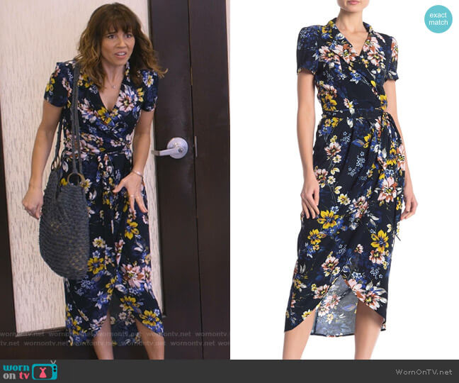Meet & Greet Floral Wrap Dress by Yumi Kim worn by Judy Hale (Linda Cardellini) on Dead to Me