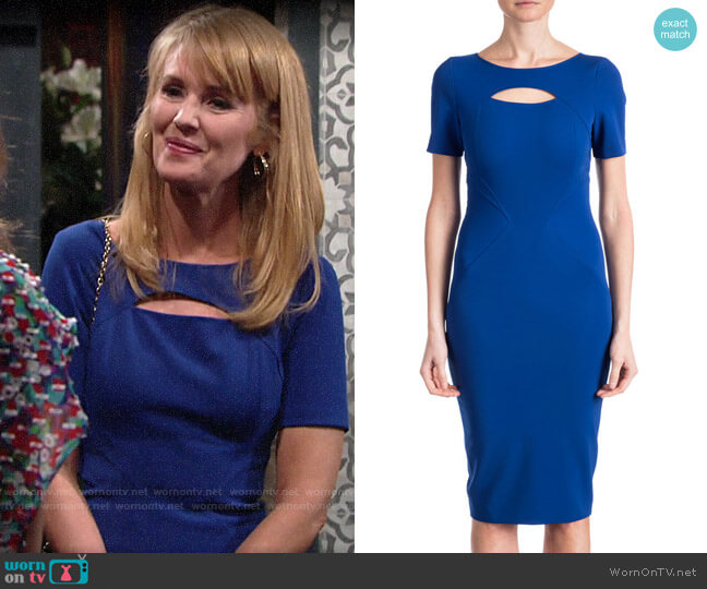 ZAC Zac Posen Brenda Dress worn by Mallory Armstrong (Wendy Benson Landes) on The Young & the Restless