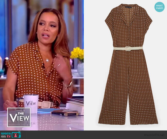Belted Polka Dot Jumpsuit by Zara worn by Sunny Hostin  on The View