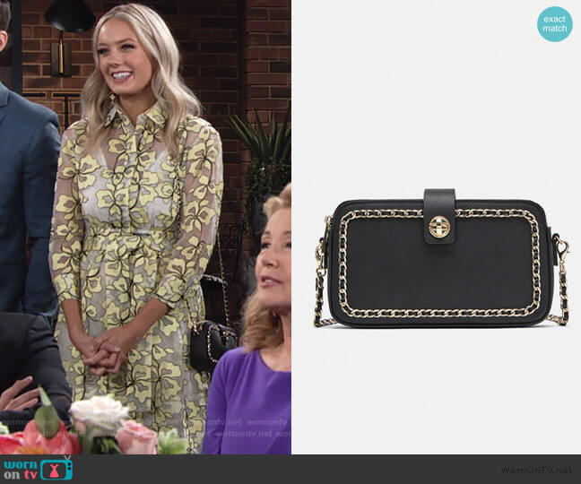 Crossbody Wallet with Zippers by Zara worn by Abby Newman (Melissa Ordway) on The Young & the Restless