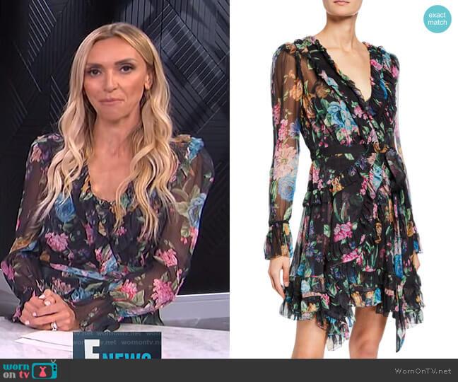 Ninety-Six Frill Wrap Dress by Zimmermann worn by Giuliana Rancic  on E! News