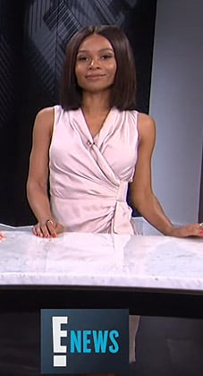 Zuri's sleeveless wrap dress on E! News