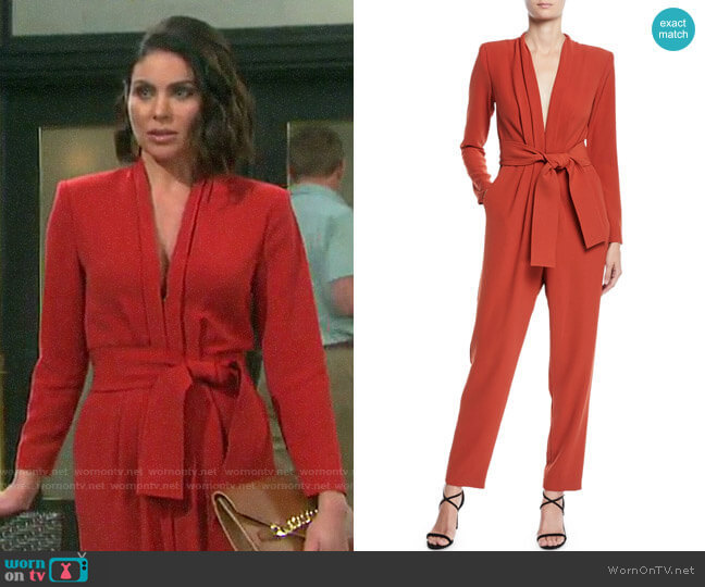 ALC Kieran Jumpsuit worn by Chloe Lane (Nadia Bjorlin) on Days of our Lives