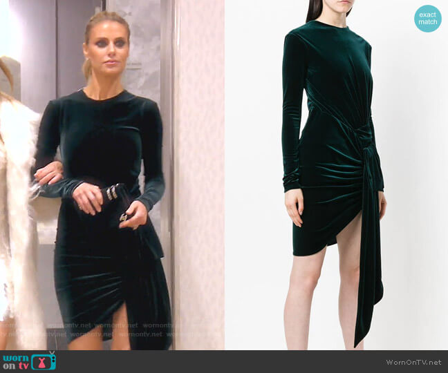 Velvet Draped Mini Dress by Alexandre Vauthier worn by Dorit Kemsley  on The Real Housewives of Beverly Hills