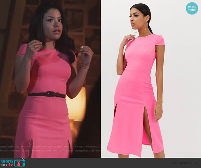 High Split Skater Midi Dress by ASOS worn by Mariana Foster (Cierra Ramirez) on Good Trouble