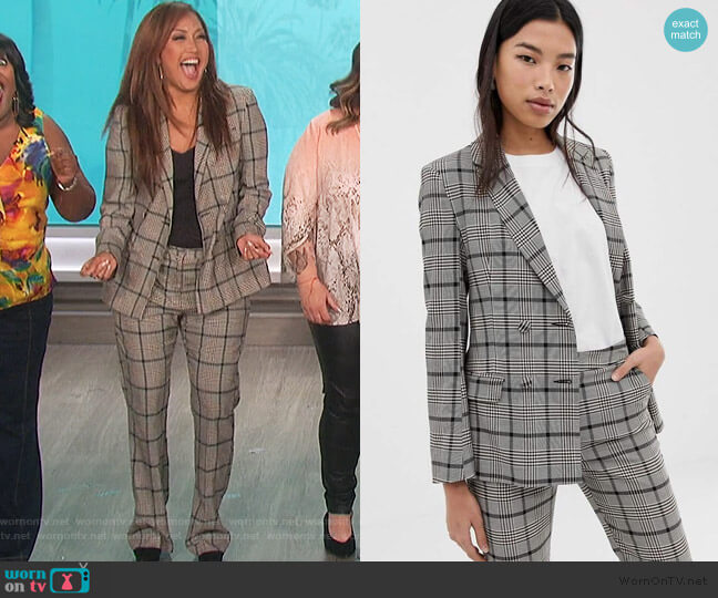 Double Breasted Suit Blazer and pants by ASOS worn by Carrie Inaba  on The Talk