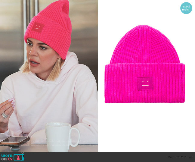 Pancy Face Beanie by Acne Studios worn by Khloe Kardashian  on Keeping Up with the Kardashians