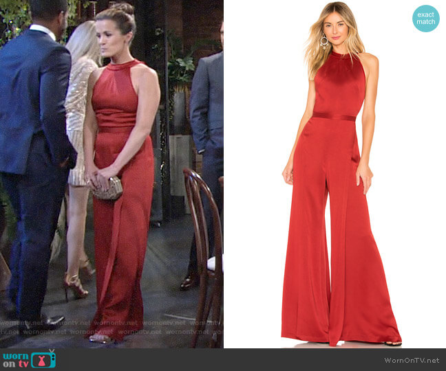 Alexis Sanaya Jumpsuit worn by Chelsea Lawson (Melissa Claire Egan) on The Young & the Restless