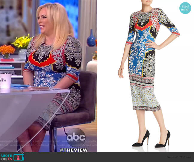Delora Crew Neck Dress by Alice + Olivia worn by Meghan McCain  on The View