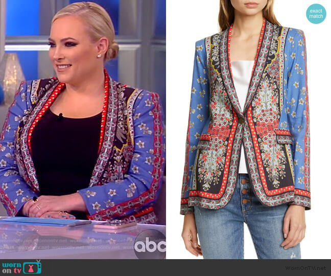 Macey Mix Print Blazer by Alice + Olivia worn by Meghan McCain  on The View