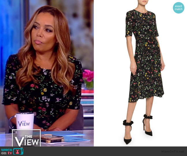 Sylvia Floral Dress by Altuzarra worn by Sunny Hostin  on The View