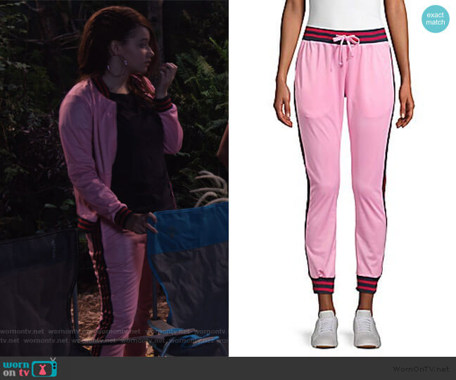 Contrast Stripe Track Pants by American Stitch worn by Jade (Talia Jackson) on Family Reunion