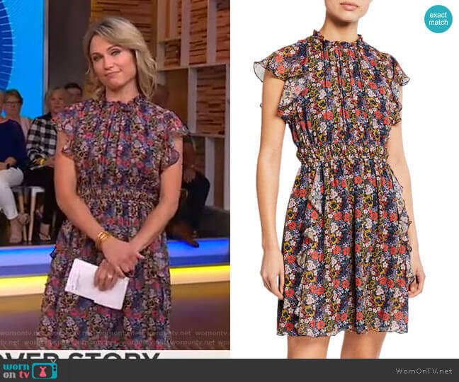 Amora Dress by Shoshanna worn by Amy Robach  on Good Morning America