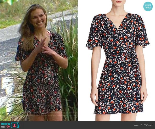 Floral Faux-Wrap Dress by Aqua worn by Hannah Brown  on The Bachelorette