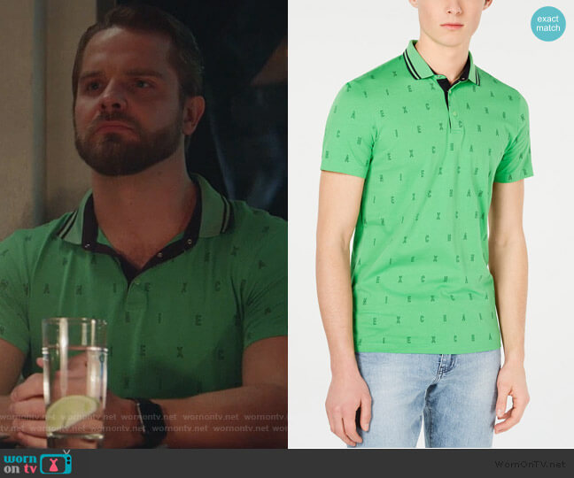 Slim Fit Polo by Armani Exchange worn by TJ Linnard on Good Trouble