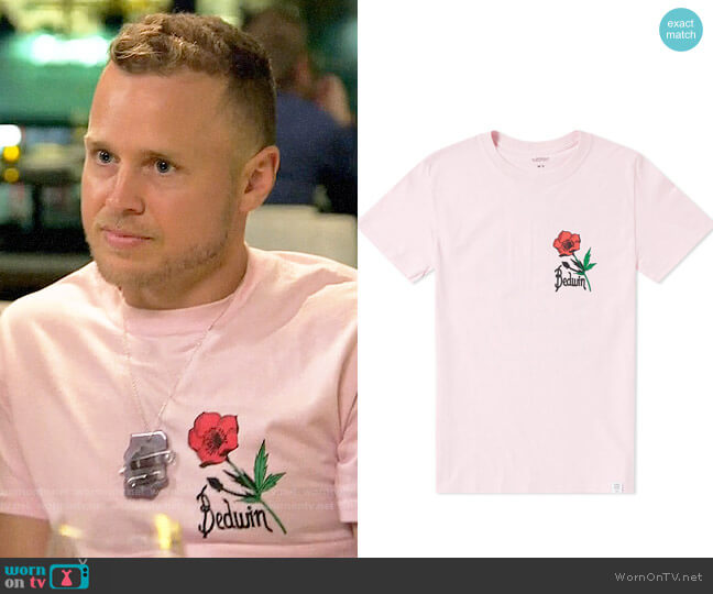 Bedwin & The Heartbreakers Rudy Print Tee worn by Spencer Pratt  on The Hills New Beginnings