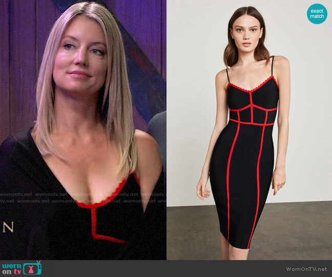 Bcbgmaxazria Strappy Bodycon Dress worn by Nina Reeves (Cynthia Watros) on General Hospital