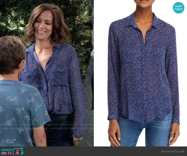 Bella Dahl Hipster Floral Shirt worn by Hayden Barnes (Rebecca Budig) on General Hospital