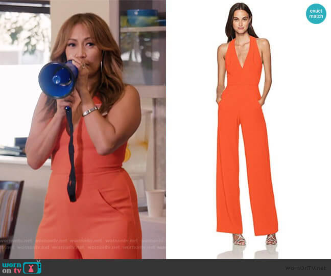 Jordan Jumpsuit by Black Halo worn by Carrie Inaba  on The Talk