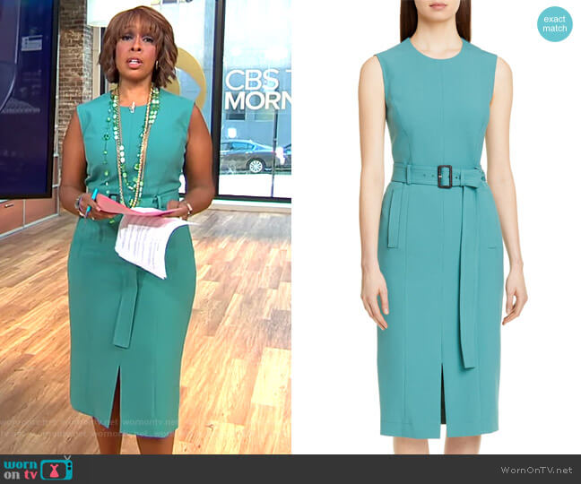 Dadoria Dress by Boss worn by Gayle King  on CBS This Morning