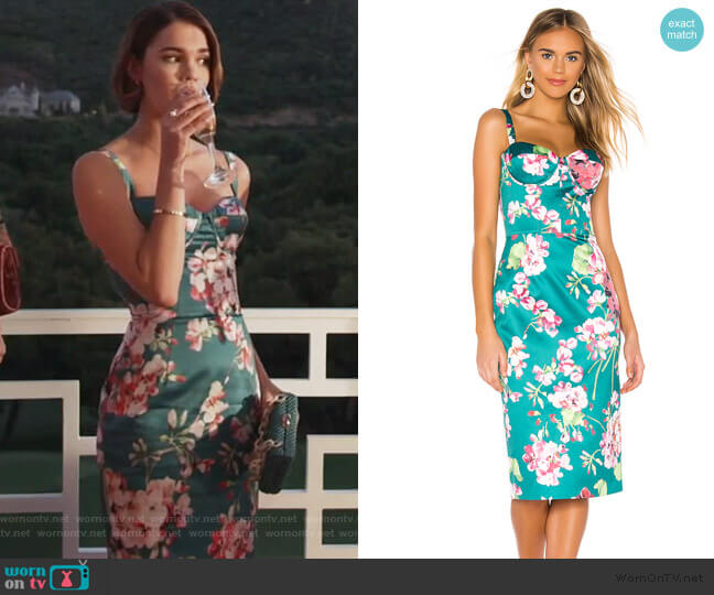 Sofia Midi Dress by Bronx and Banco worn by Callie Foster (Maia Mitchell) on Good Trouble