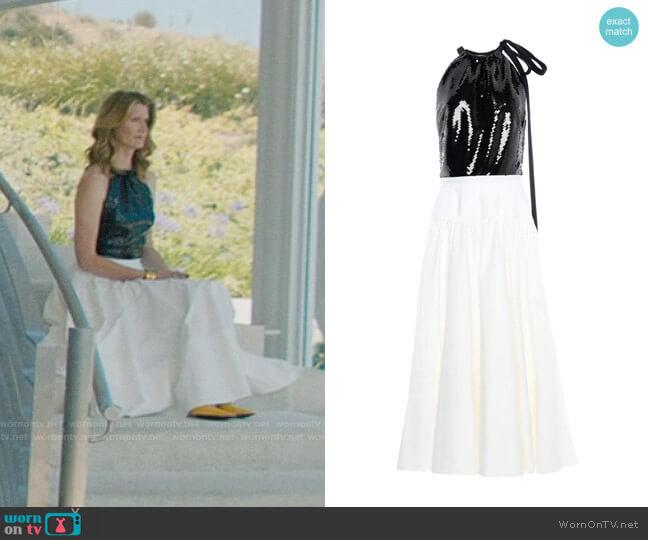 Calvin Klein 205W39NYC Long Dress worn by Renata Klein (Laura Dern) on Big Little Lies