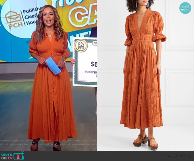 Willow shirred cotton-blend maxi dress by Cult Gaia worn by Sunny Hostin  on The View
