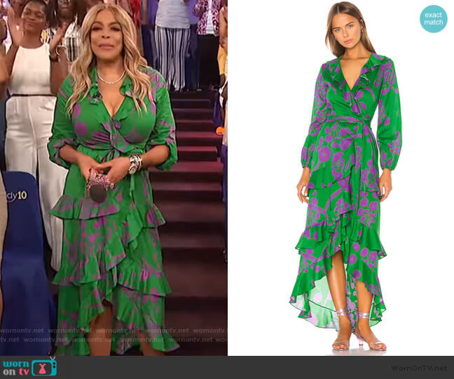 Lanai Ruffle Wrap Dress by Cynthia Rowley worn by Wendy Williams  on The Wendy Williams Show